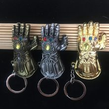Maravilha Infinity Gauntlet Pedra Gem Keychain Brinquedo Toy Action Figure The Avengers Thor 3 Infinito Guerra Thanos Brinquedos Chaveiro pingente(China)