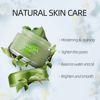 Matcha Mud Facial Mask Cream Whitening Anti-Aging Blackhead Remover Acne Treatment Deep Cleaning Oil-Control Moisturizing 2