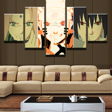 5 Panel Modular Picture Naruto Animated Cartoon Characters Modern Home Wall Decor Canvas Art HD Print Painting On