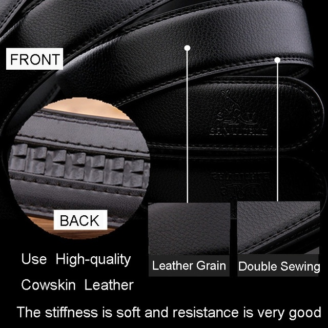 Men's fashion Accessories brand belts hight quality real leather automatic buckle black belt for male sale free shipping