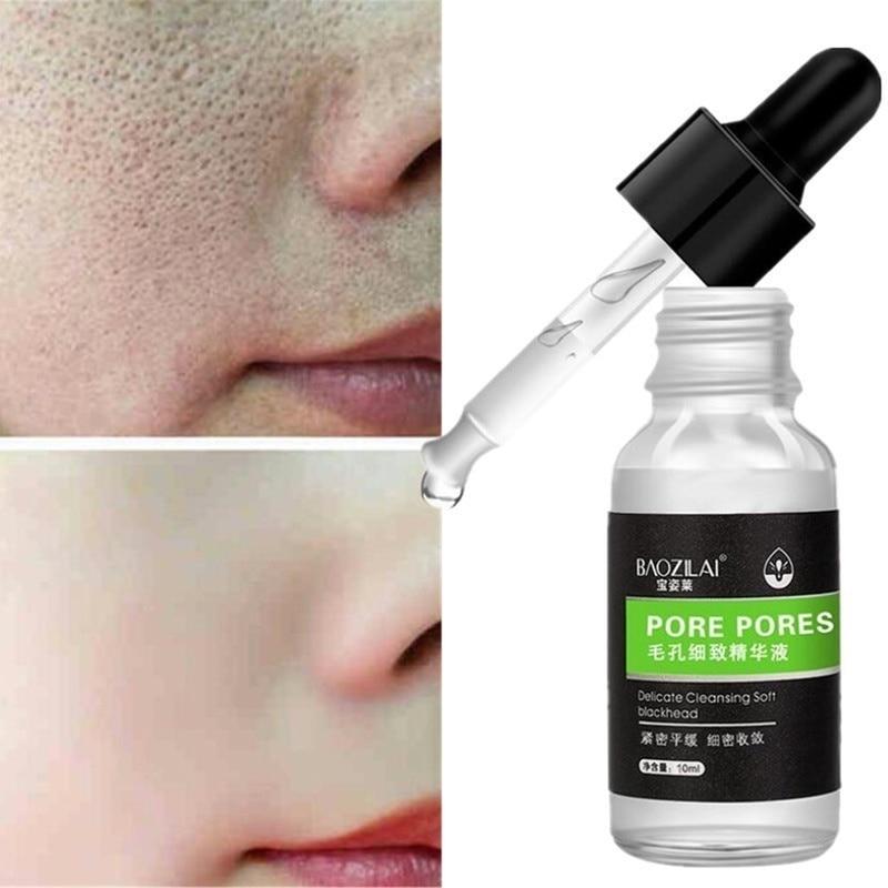 BAOZILAI Face Serum Hyaluronic Acid Shrink Pores Essence Liquid Moisturize Whitening Facial Care Anti-Aging Anti-Wrinkle TSLM2
