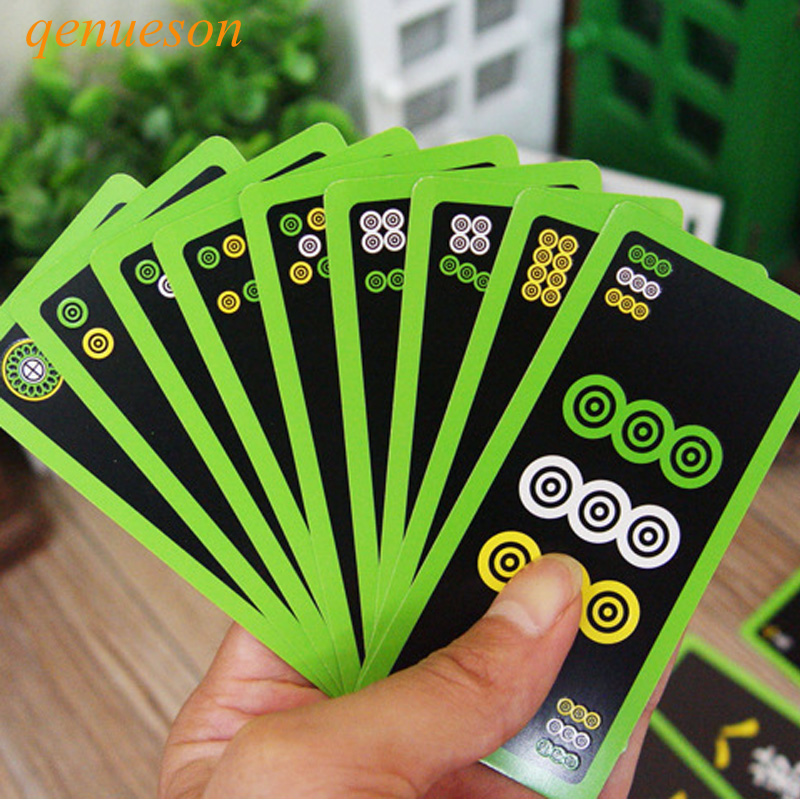 New Hot High Quality Luminous Mahjong Poker Cards Noctilucent Smooth Paper Mahjong Playing Cards Board Games 95mm* 45mm qenueson