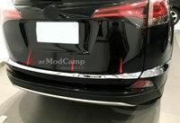 ABS Chrome Rear Gate Molding Trim Bumper Corner Trim 3pcs For Toyota RAV4 RAV 4 XV40