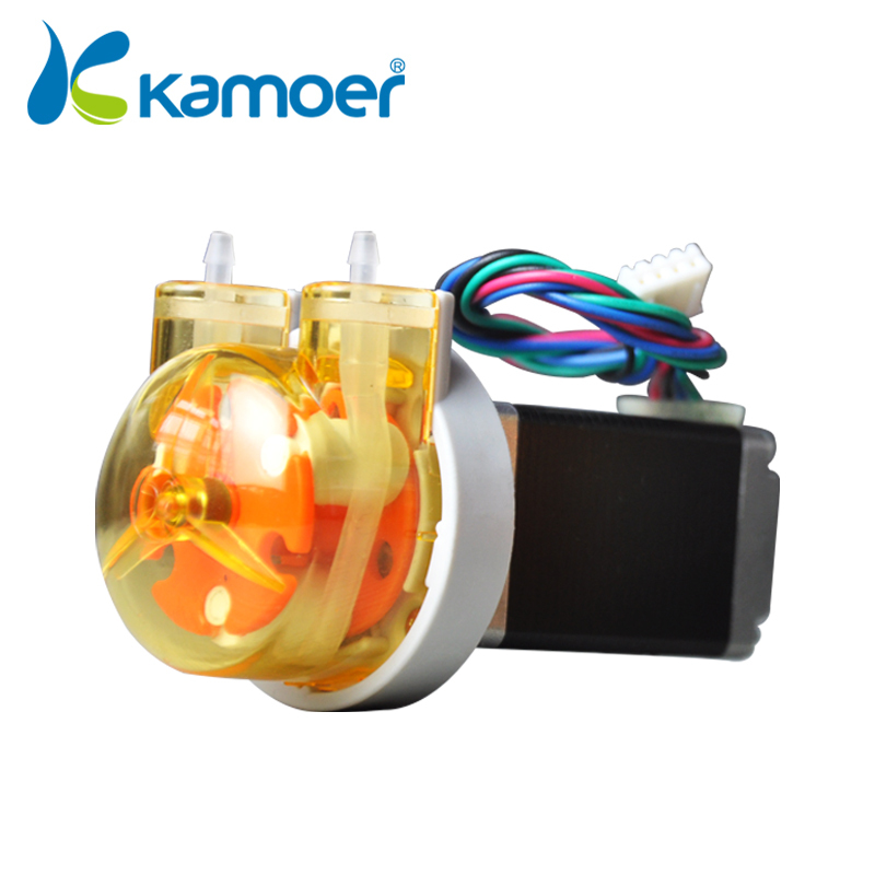 Micro Peristaltic Pump 24V With stepper motor mini electric water pump pressure pump water with high percision (L) Kamoer KAS kamoer small peristaltic pump with stepper motor mini electric water pump 24v 12v liquid pump with high percision dosing pump
