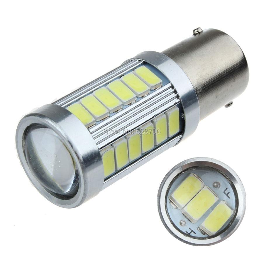 1PCS Single Contact Bayonet 1156 BA15S P21W 33 SMD 5630 5730 Car Led Signal Lights Brake Tail Lamps Auto Rear Reverse Bulbs