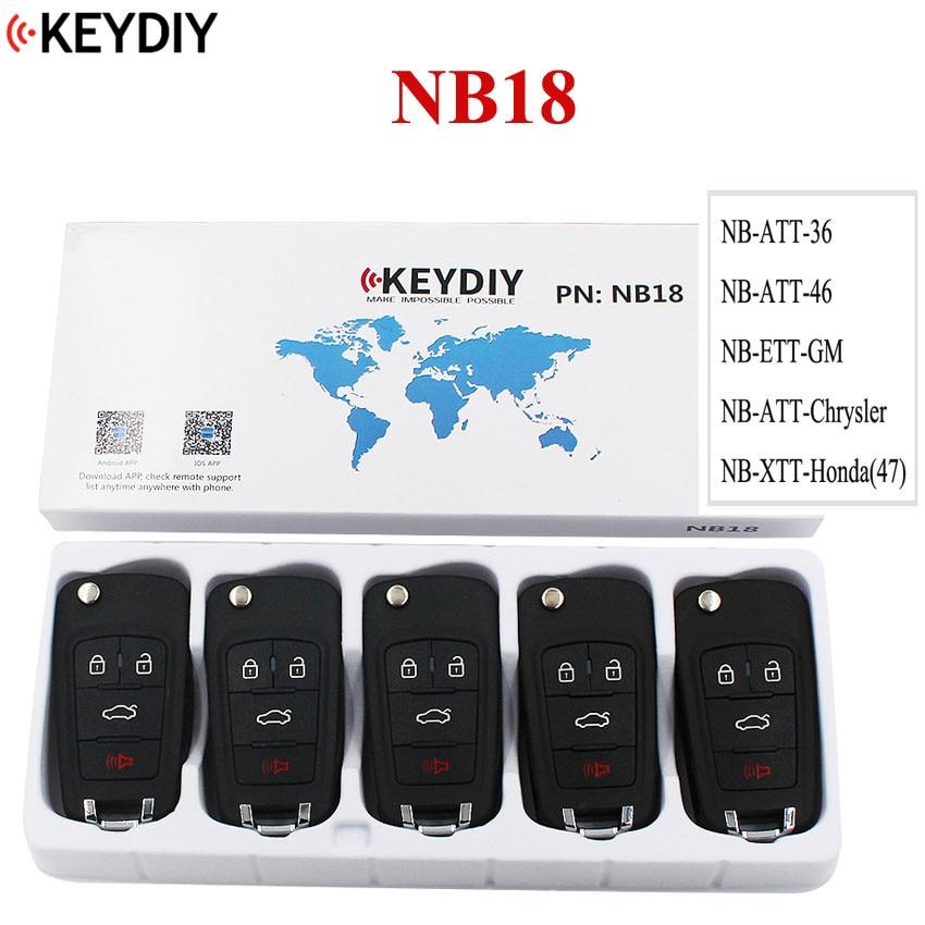 5PCS LOT Multi functional Universal Remote Key for KD900 KD900 URG200 KEYDIY Remote for NB18 all