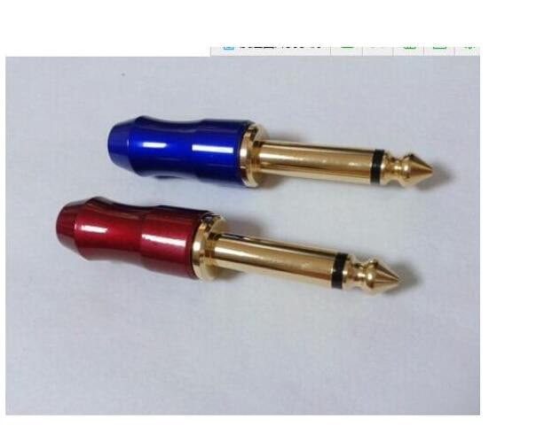 450 pcs 1/4 6.35mm cabo de microfone mono plugue de áudio conector para diy 8mm + 50 pcs de ouro-conectores rca banhado red fone de ouvido estéreo