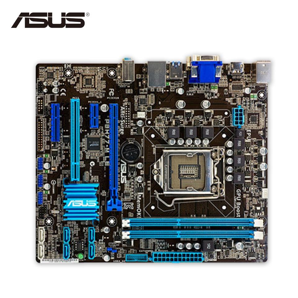 Asus P8H77-M LE Original Used Desktop Motherboard Intel H77 LGA 1155 i3 i5 i7 DDR3 16G SATA3 USB3 HDMI DVI VGA uATX used motherboard mainboard for msi h67ma e35 lga 1155 ddr3 16gb usb2 0 usb3 0 vga dvi hdmi micro atx board