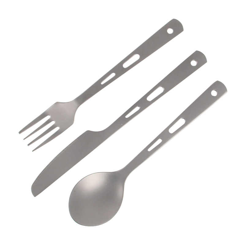 Tiartisan Pure Titanium Lepel Vork Mes Outdoor Koken Servies Herbruikbare Lunch Bestek Voor Camping Picknick Backpacken Ta8106