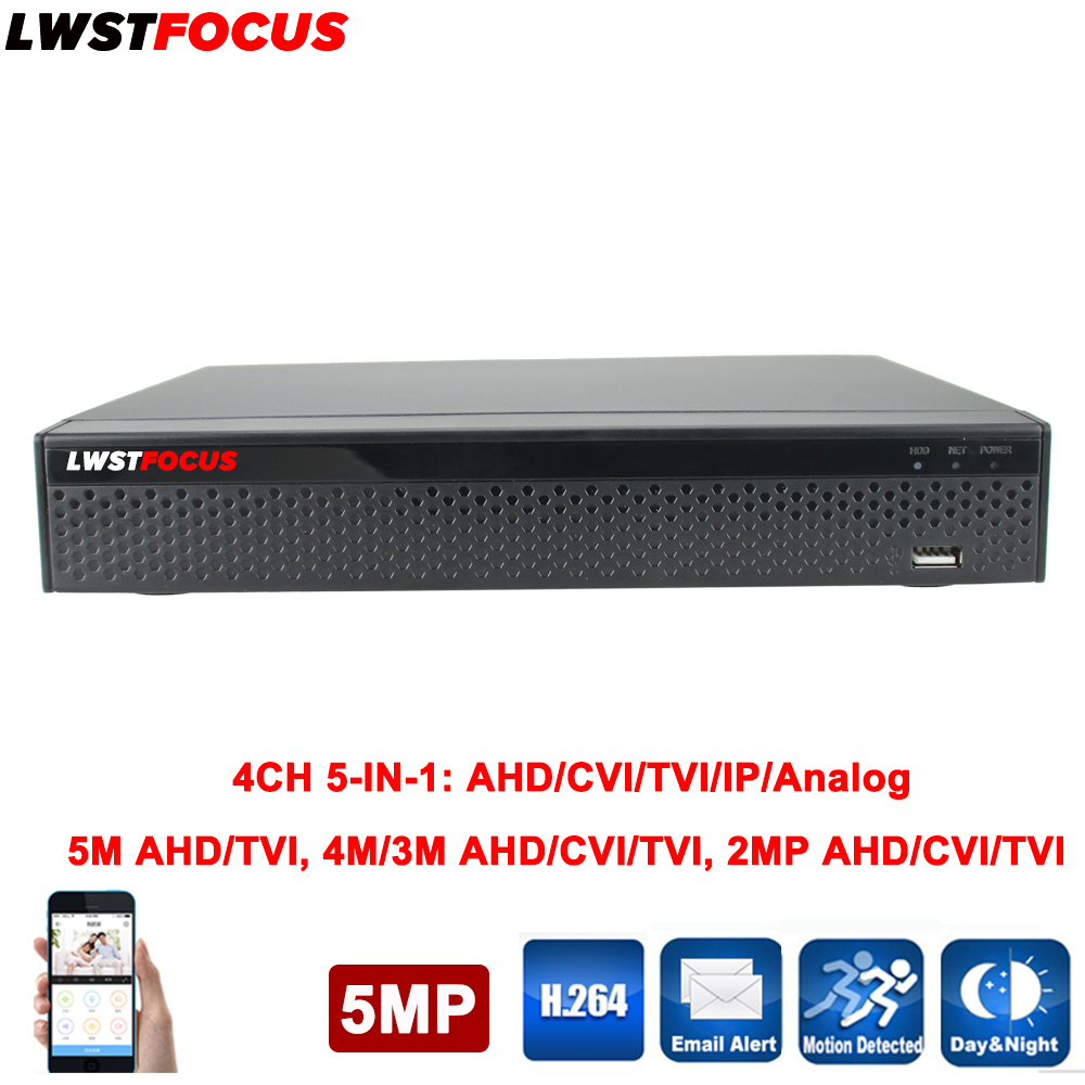 5 IN 1 Security CCTV DVR XVR 4CH AHD 5MP 4MP 3MP 1080P H.264 Hybrid Video Recorder for AHD TVI CVI Analog IP Camera Onvif IP 8MP 8channel dvr 1080p hybrid xvr 16ch for ahd h cvi tvi camera p2p ip recorder onvif network cvr mini nvr h 264 for 2mp ip camera