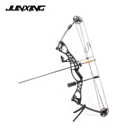 Compound Bow 40 60lbs 40 Inch Aluminum Alloy Black/Blue Handle with Peep Sight for Adult Hunter Outdoor Archery Hunting Shooting