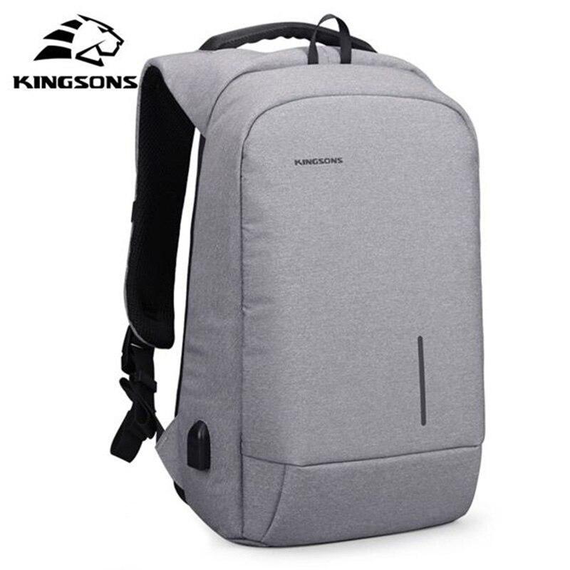 Sacs à dos d'homme d'ordinateur portable de 15.6 pouces Anti-voleur imperméable à l'eau USB chargeant des sacs d'épaule de Buiness pour l'homme Mochila