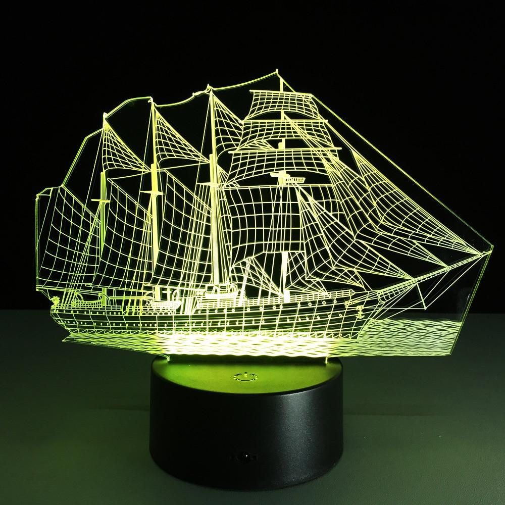 Luzes da Noite forma de barco mar night Tipo : Night Light