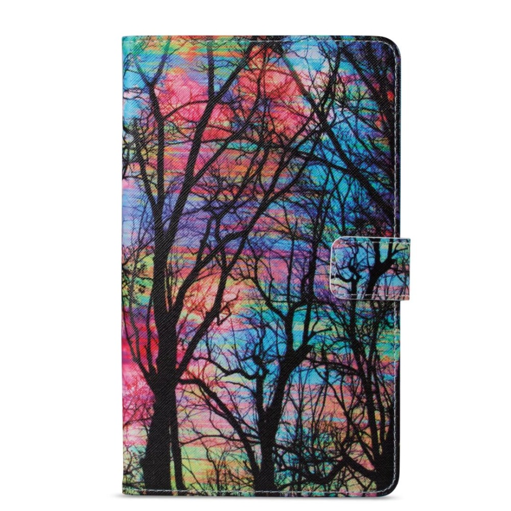 Tablet Funda Cases Color Painted PU New 2017 For Samsung Galaxy Tab A 8.0 T380 T385 Leather Case Flip Cover Shell T385