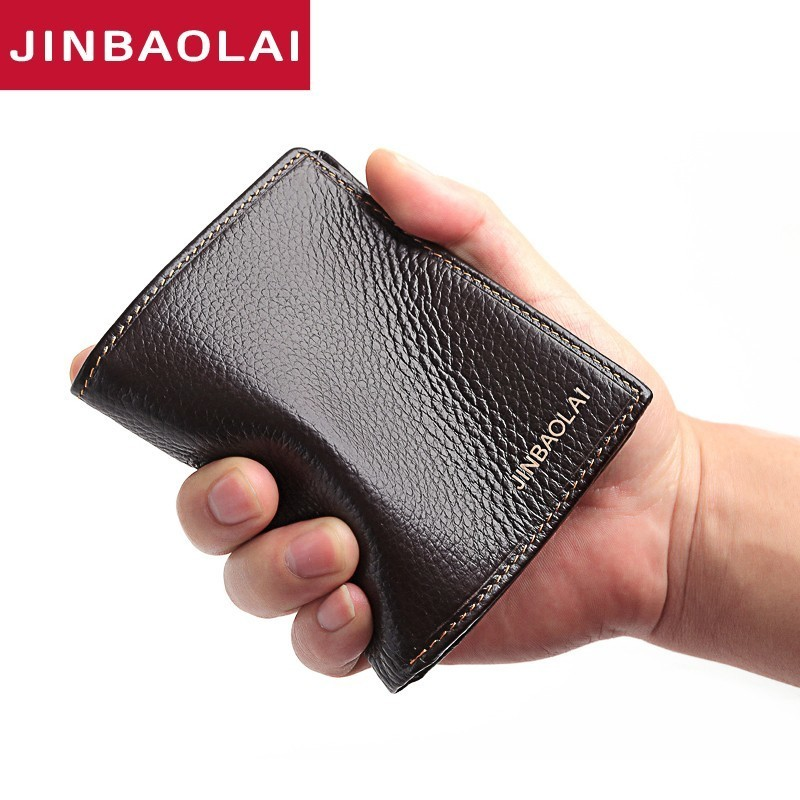 Genuine Leather Mens Wallet Flash Sale Premium Product 100% Real Cowhide Wallets For Man Short Black Walet Portefeuille Homme
