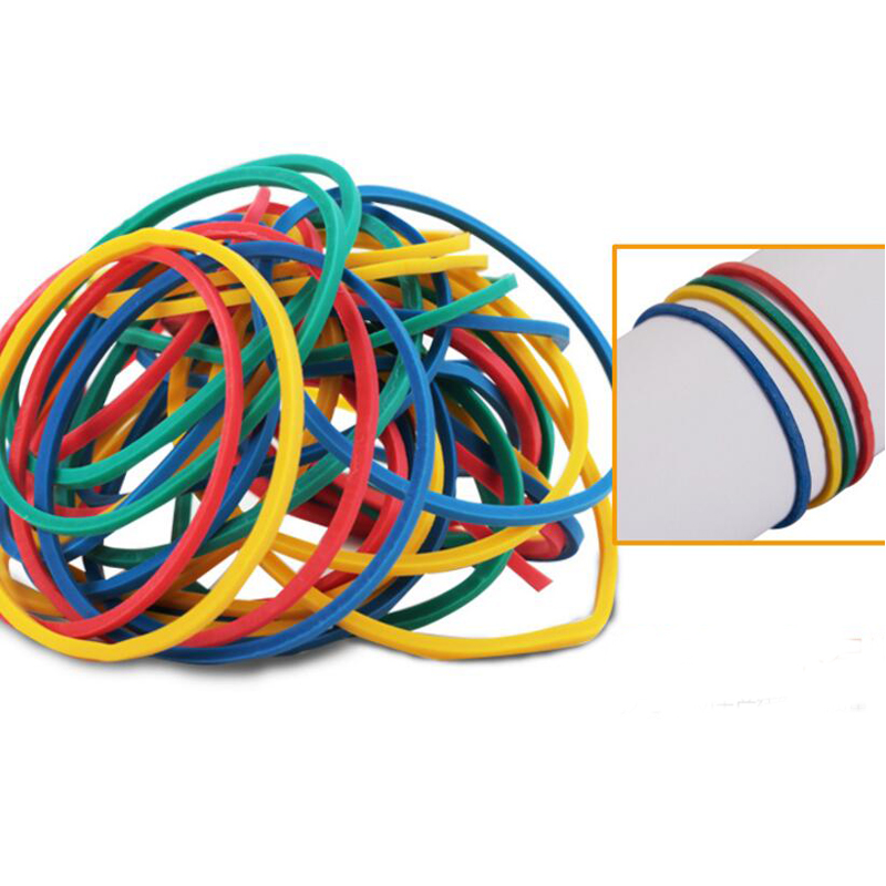 High Quality 500 Pcs/Pack Mixed Color Rubber Bands Colorful Diameter 40mm Rubber Band Rubber Rings Elastic Band Office Supply