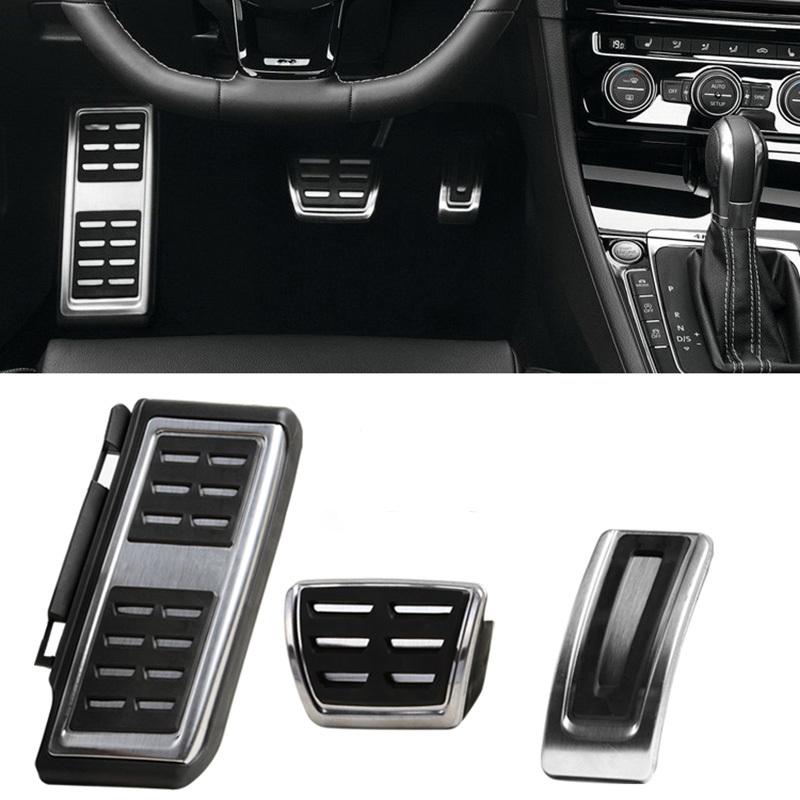 Prix pour LHD Voiture Pédales Fit Pour VW Audi A3 8 V S3 RS3 Sportback Seat Leon Rapide Octavia 5E 5F A7 Passat B8 Repose-pieds Plaquettes De Frein accessoires