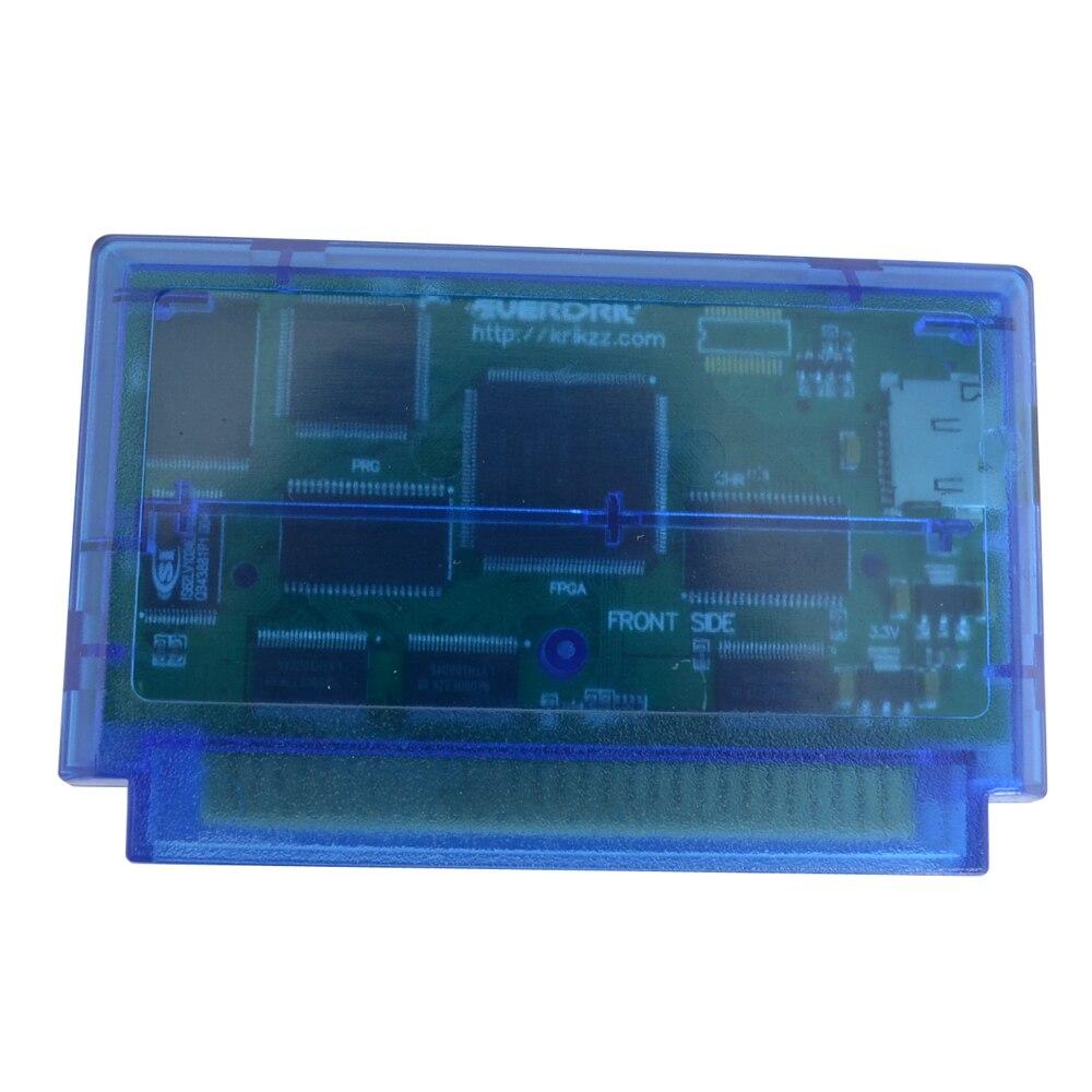 Игровой картридж конвертер адаптер для F C Ever drive прозрачный синий N 8