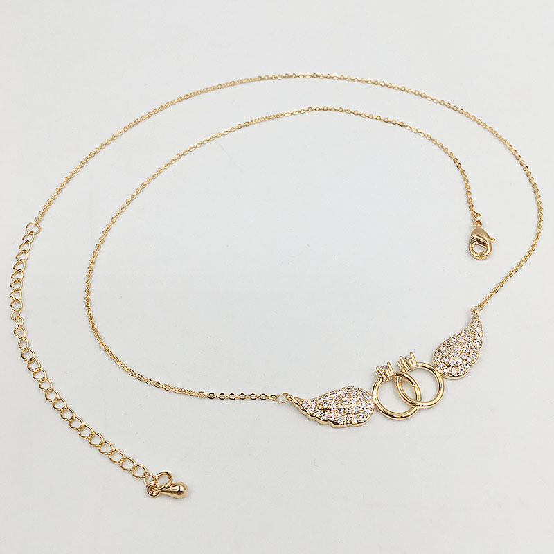 HADIYANA Κυβικά ζιργκόν φτερά σχήμα - Κοσμήματα μόδας - Φωτογραφία 5
