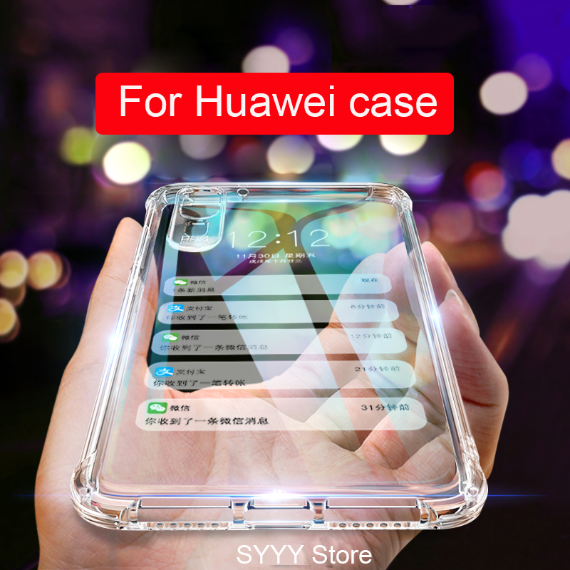 transparent phone Case For Huawei P20 P30 pro P20 P smart 2019 mate 20 10 lite Honor 9 10 lite honor 7a 7c pro Nova 4 3i cover in Half wrapped Cases from Cellphones Telecommunications
