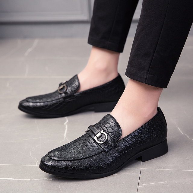 Men's Multicolor Leather Breathable Slip-On Loafers