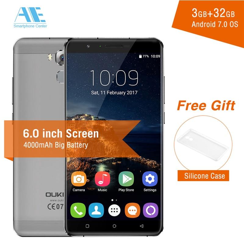 bilder für Original Oukitel U16 MAX MTK6753 Octa-core Android 7.0 Handy 6,0 Zoll 3G RAM 32G ROM 13.0MP Kamera Fingerabdruck Mobilen telefon