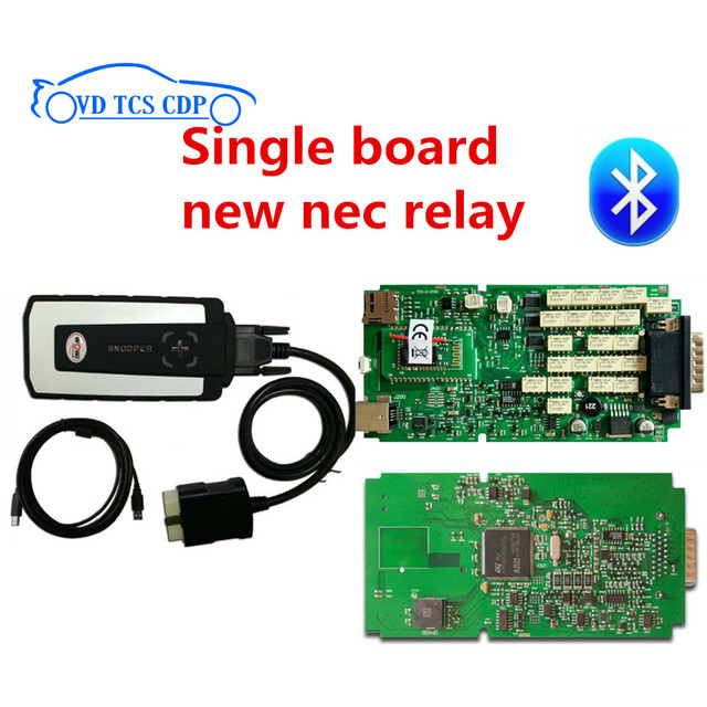 Best Price 2017 Hot and  Best Quality  with Single PCB green board for WOW cdp SNOOPER  v5.008 r2 software Car diagnostic tool cdp pro
