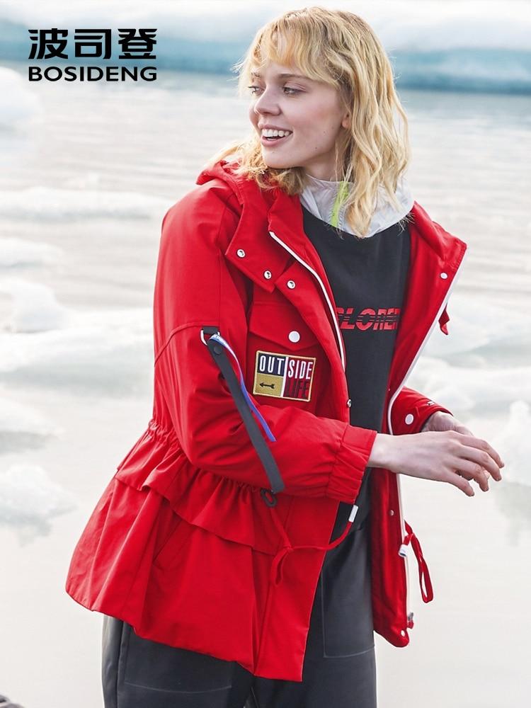 Kadın Giyim'ten Şişme Montlar'de Bosideng yeni aşağı ceket kapşonlu şapka ayrılabilir ayarlanabilir bel 90% uzun kaban moda dış giyim kentsel tarzı şeritler B80132108'da  Grup 1