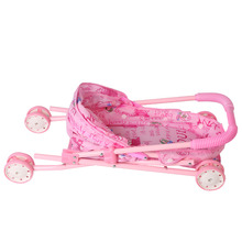 Dolls Accessories Doll Stroller Foldable Stroller Pram Pushchair Safe Baby Dolls Carriages Pretended Play Furniture Toy for Kids
