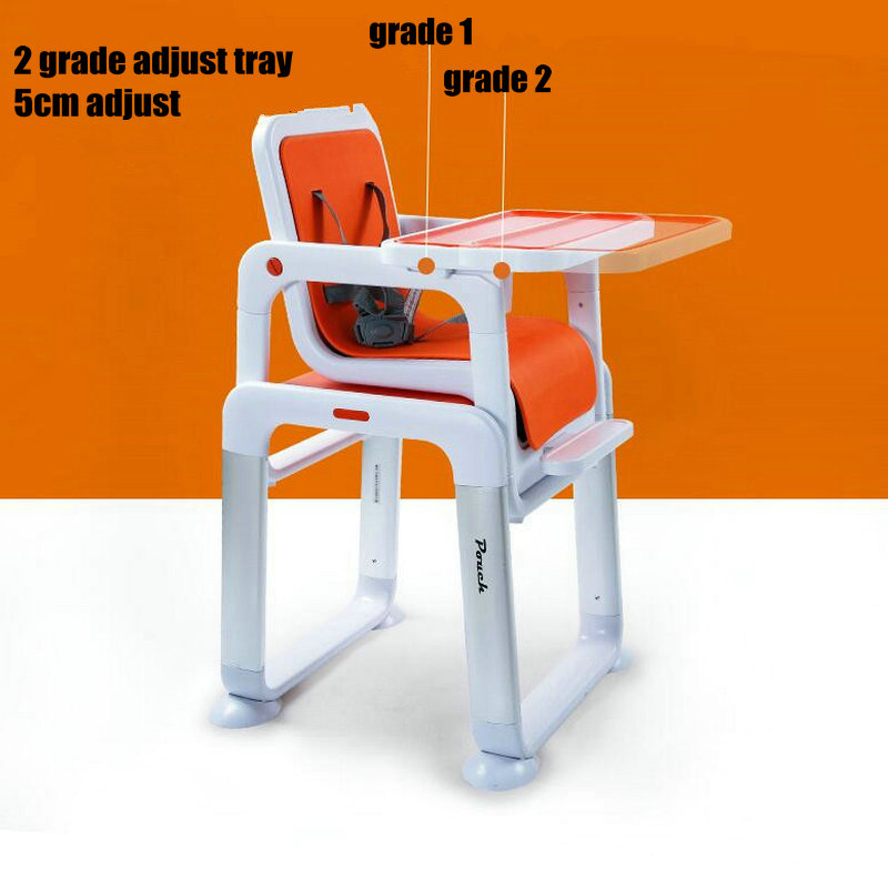 POUCH separate baby dining table portable kids feeding chair PP seat kids highchair 3 in 1 booster seat