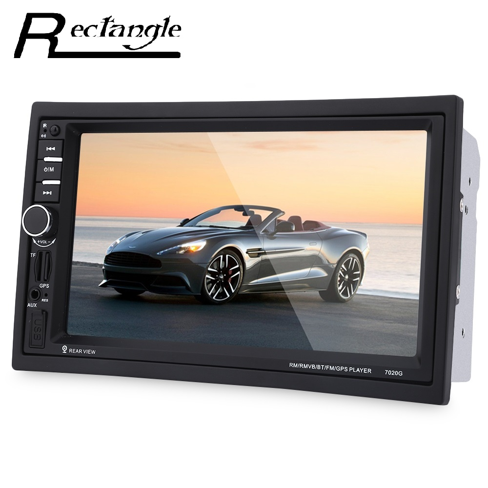 7 inch 2 Double din Car Radio MP5 Video Player Touch Screen Bluetooth FM Remote Control GPS Navigation steering wheel control car radio mp5 player fm usb tf 1 din remote control 12v stereo 7 inch car radio aux touch screen