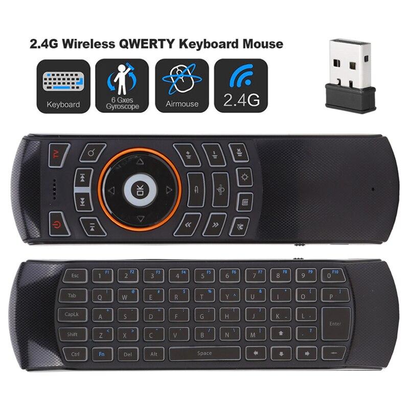 X6 Backlit USB Sem Fio de 2.4GHz Mini Teclado Modo MX3 Pro Air mouse IR Aprendizagem Controle Remoto Para PC Android TV