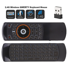 X6 USB 2.4GHz Wireless Backlit Mini Keyboard MX3 Pro Air mouse IR Learning Mode Remote Control For PC Android TV