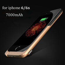 7000mAh Rechargeable Backup Power Case Cover for iPhone 6 External Battery Charger Case for iPhone 6Plus Power Bank Case