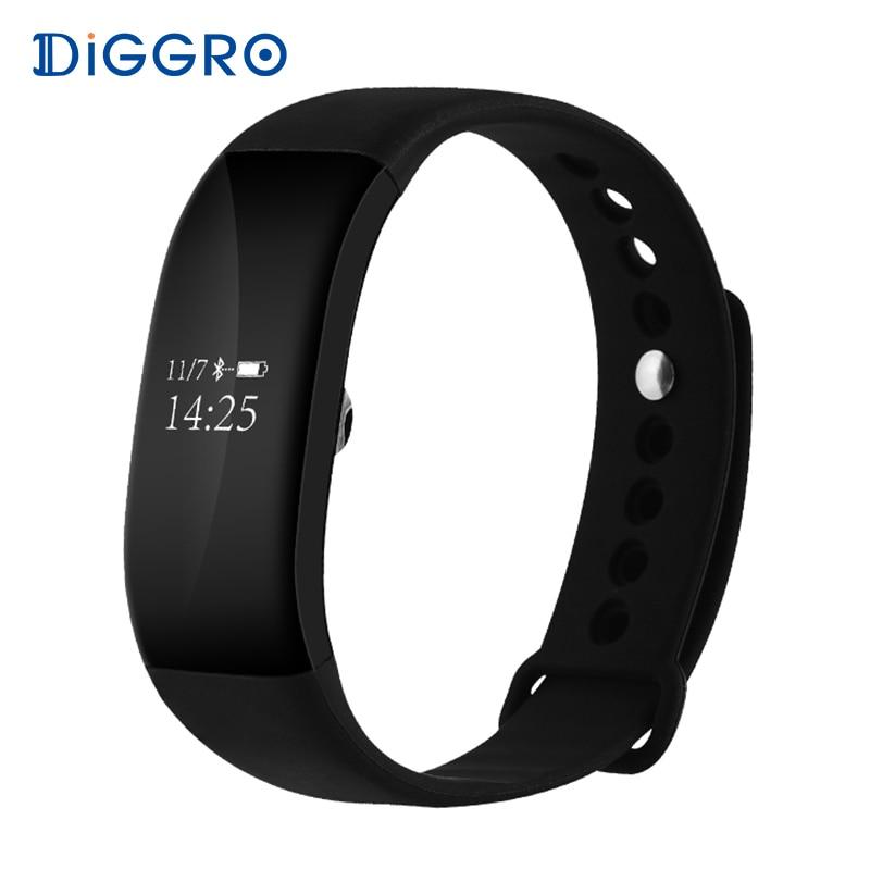 imágenes para Diggro V66 Smartband Monitor Del Ritmo Cardíaco Reloj Pulsera Inteligente Inalámbrico IP67 A Prueba de agua Gimnasio Rastreador Pulsera para Android iOS
