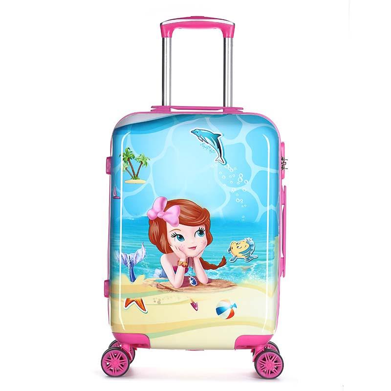 Letrend 귀여운 만화 어린이 롤링 수하물 회 전자 소년 소녀 가방 바퀴 학생 캐빈 트롤리 20 인치 여행 가방-에서여행용 가방부터 수화물 & 가방 의  그룹 1
