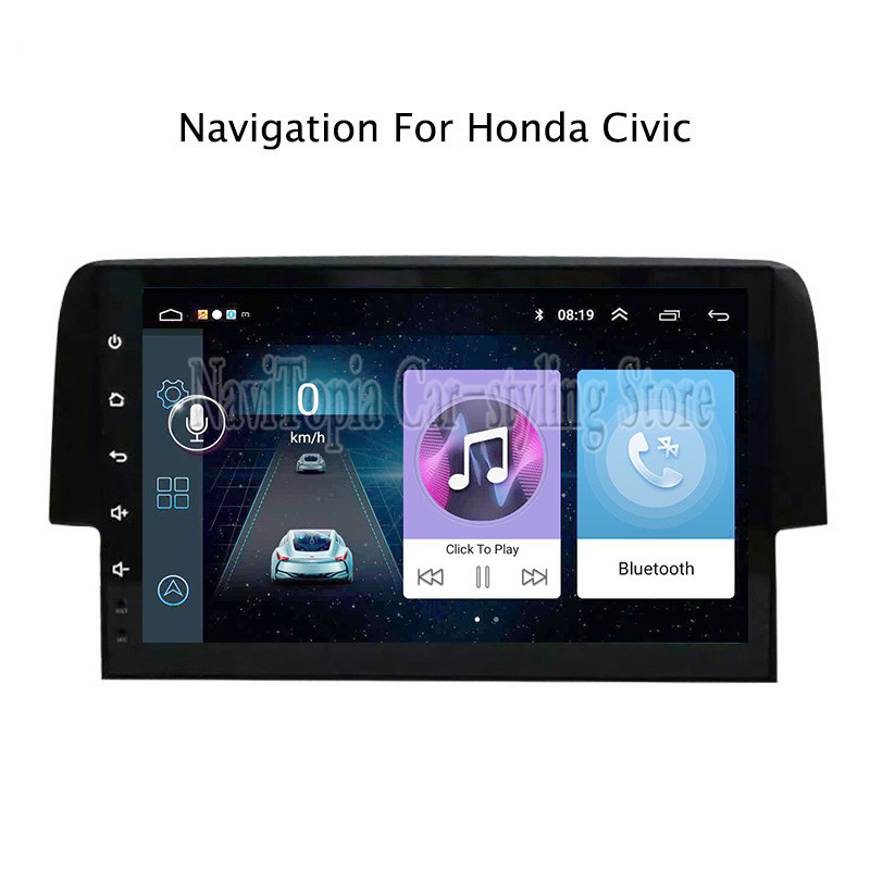 9 pouces Android 9.0 autoradio GPS Navigation multimédia stéréo lecteur DVD pour Honda Civic 2016 2017 2018