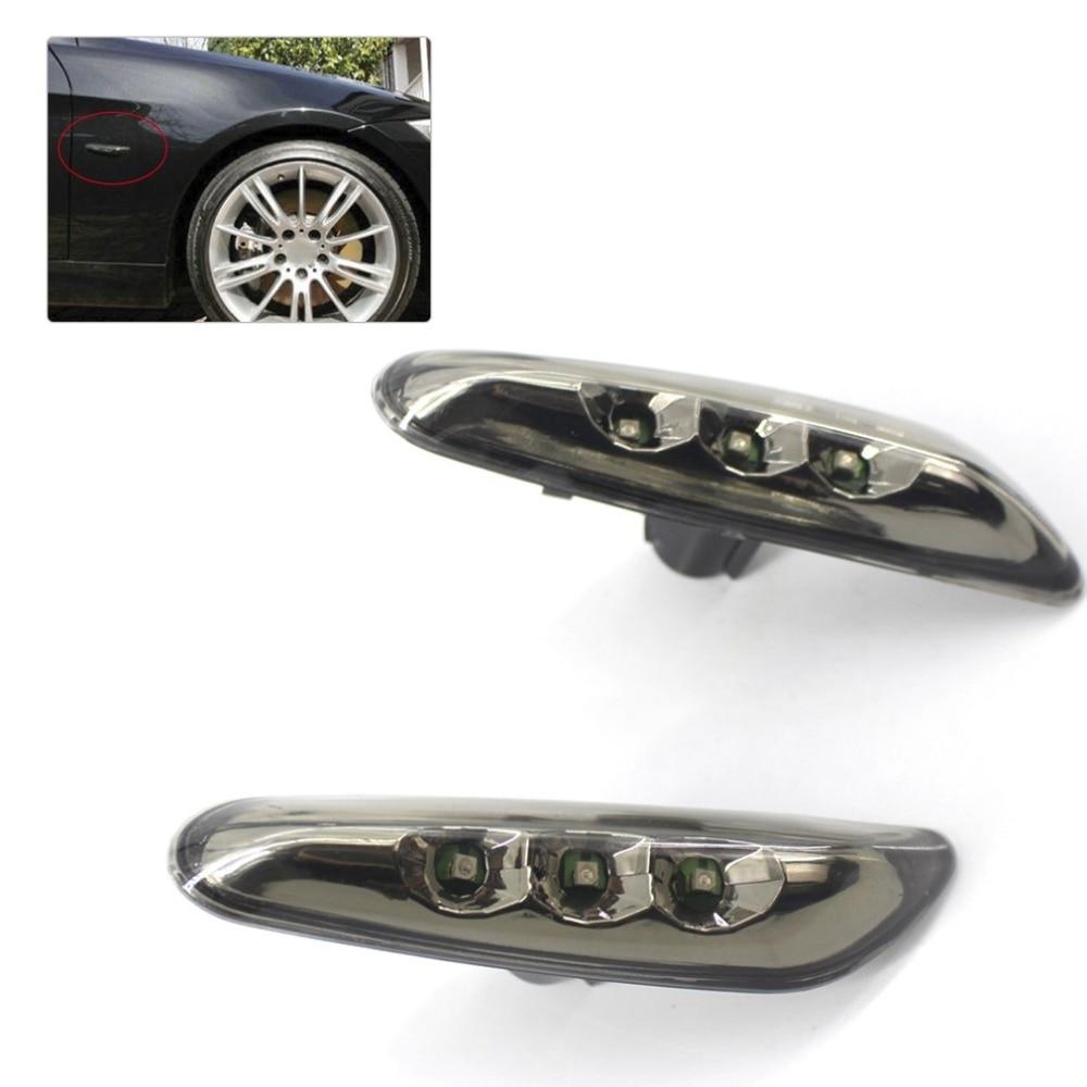 2PCS High brightness Auto Car Side Marker Lights Turn Signals Indicator LED Brake Light for BMW 3 Series E46 E90 E92 E93 Z4