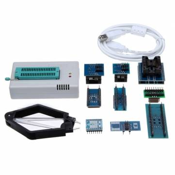 Free Shipping Mini Pro TL866CS USB BIOS Universal Programmer Kit With 9 Pcs Adapter free shipping msop 10 msop10 universal adapter for usb programmer ic adapter sockets