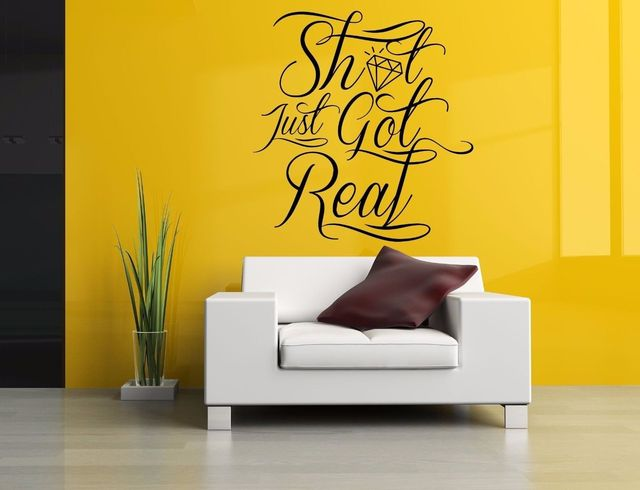 Wall Room Decor Art Vinyl Sticker Mural Decal Funny Quote Large Big ...