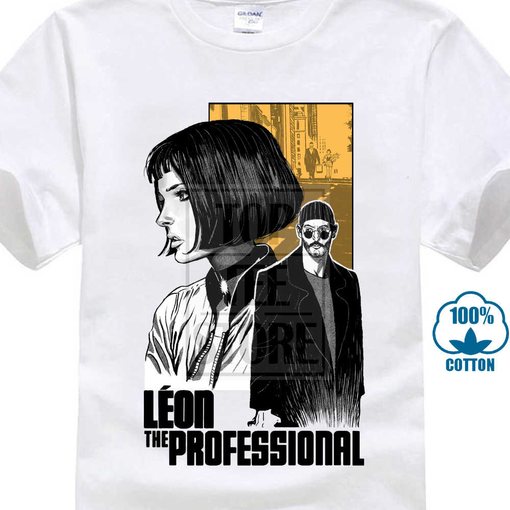 Leon The Professional V5 Movie Poster Matilda T Shirt Bianco Tutte Le Dimensioni S 4Xl