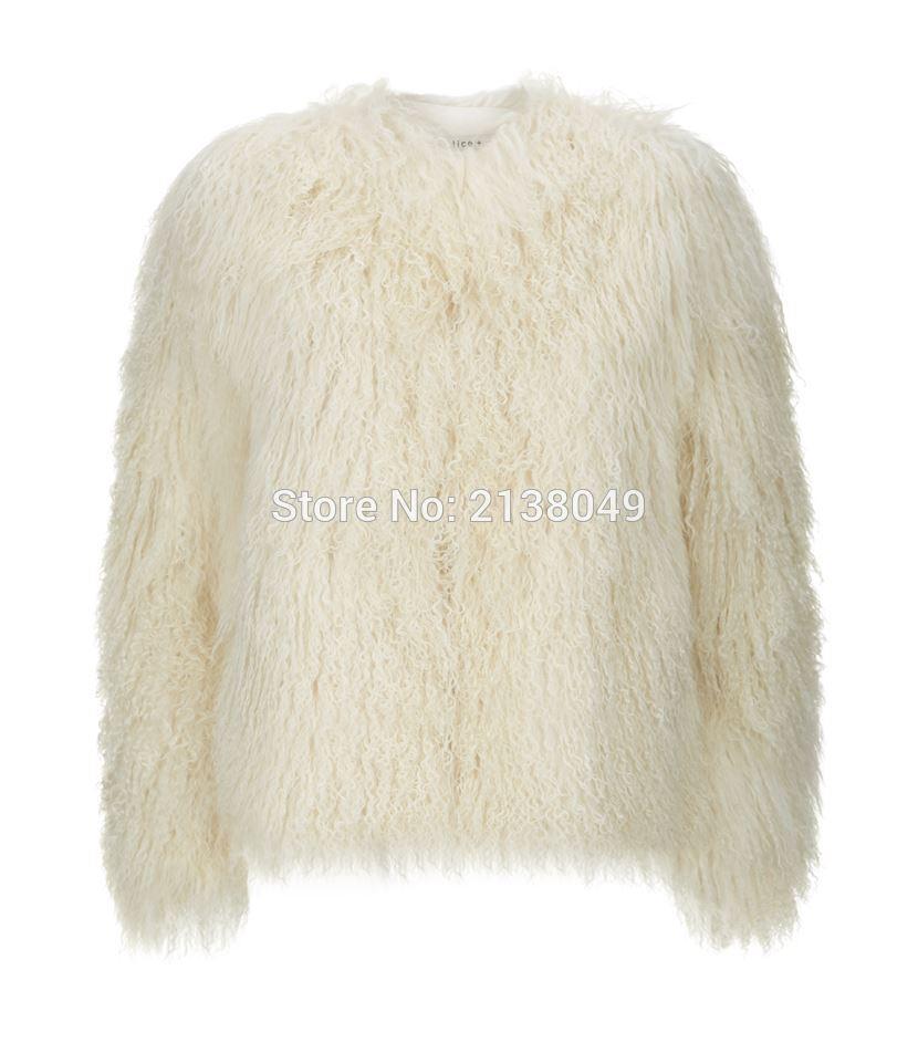 Style beige Manteau De noir grey Court Pour Fourrure Femmes Mongol Longue Sf0026 Camel Moutons Vestes zwXqSX7