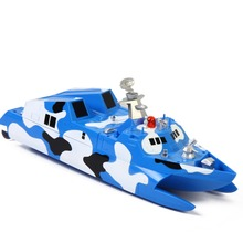 Remote control boat charging electric stealth missile boats wireless model ship model military naval vessels Toys