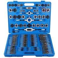 110PCS Tap & Die Set Metric Wrench Thread Cutting Edge Holder Repair Tool Metalworking Hand Tools Tap Wrench With Case