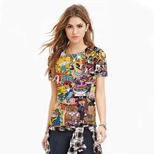 2016 New Fashion Women/Men Cartoon Totally 90s Print 3d T Shirt Pokemon Cartoon Sporting T Shirts Girls Top Tee Plus Size S-XXL
