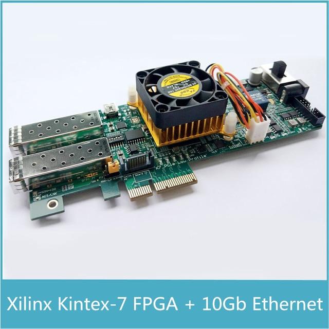 Xilinx Kintex7 Placa de desarrollo FPGA PCIe Kintex 7 FPGA XC7K325T PCIe tarjeta con 1024 MB de SDRAM DDR 10Gb Gigabit Ethernet de red