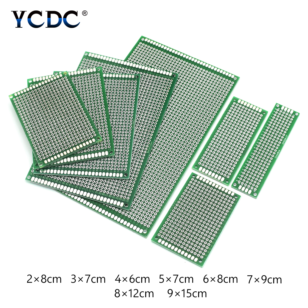 Hot Sale 5pcs Pcb Printed Circuit Board Universal Proto Breadboard For Diy Projects