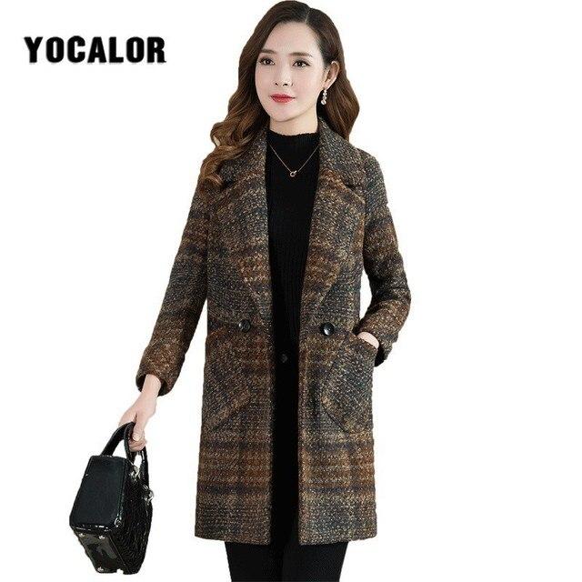 nouveau concept ffc50 42bae 2019 Manteau en laine Femme pardessus coupe vent épaississement Hiver  automne femmes manteaux Cape Uk