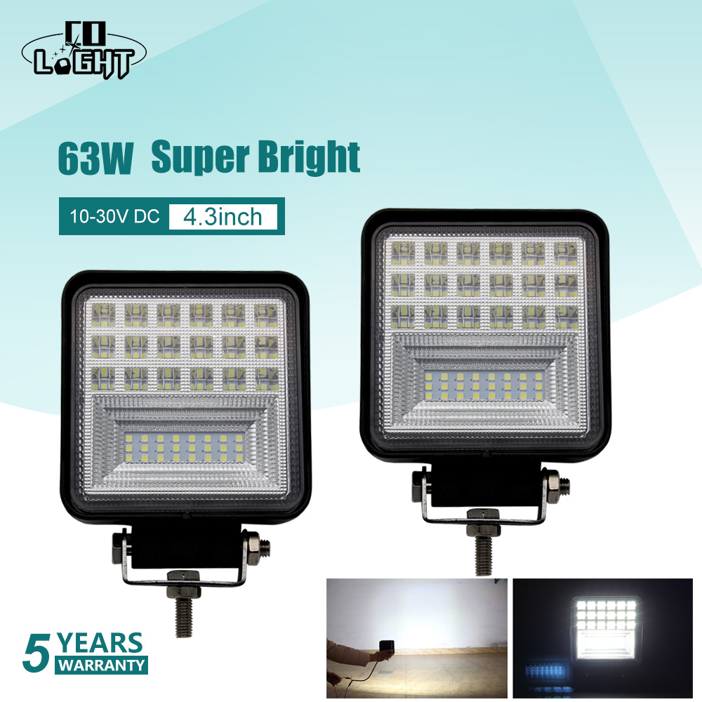 CO LIGHT 4 3 inch 63W LED Work Light 4x4 Offroad Led Light Bar Driving font
