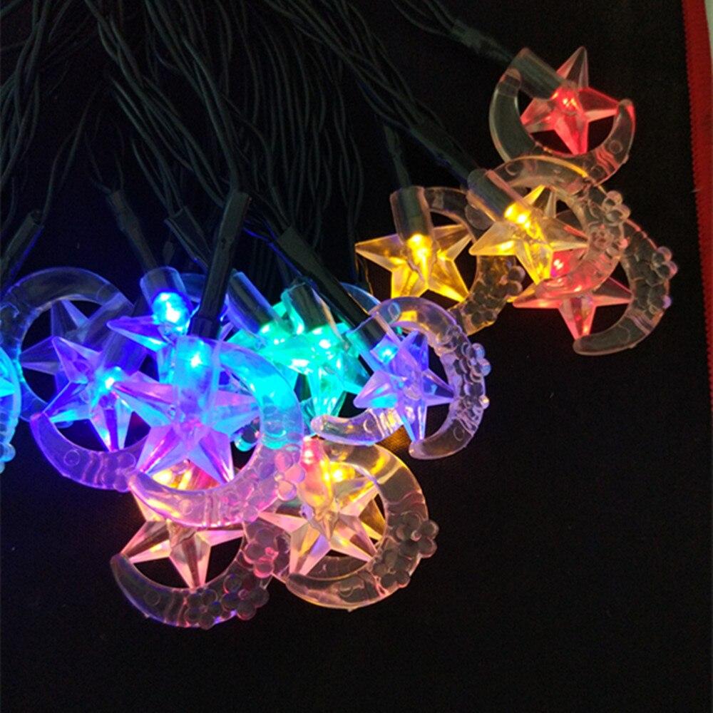 YIYANG Waterproof Long Solar Christmas Lights Premium Vivid Moon Stars Solar Powered Fairy String Outdoor Gardens Path Light